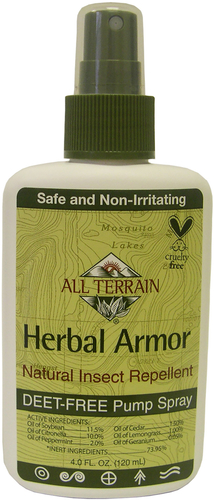 Spray repellente per insetti corazza alle erbe 4 oz (113 g) Bottiglia