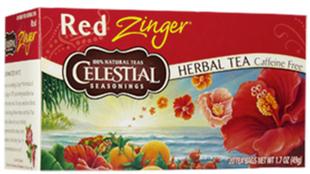 Herbal Tea Caffeine Free Red Zinger 20 Tea Bags