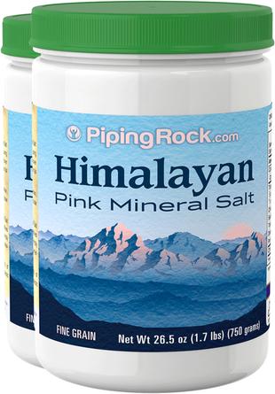 Sel minéral rose de l'Himalaya 26.5 oz (750 g) Bouteilles