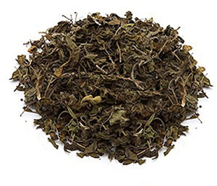 Chá peneirado e de folhas cortadas de manjericão-sagrado (Krishna) Tulsi (Orgânico) 4 oz (113 g) Saco