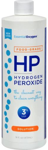 Solução de peróxido de hidrogénio 3% Grau alimentar 16 fl oz (473 mL) Frasco