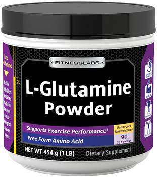 L-glutamina w proszku 1 lb (454 g) Butelka