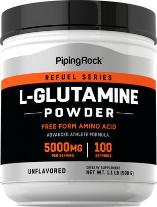 L-glutamina w proszku 1.1 lb (500 g) Butelka