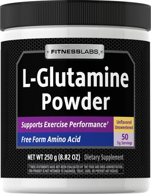 L-glutamina w proszku 250 g (8.82 oz) Butelka