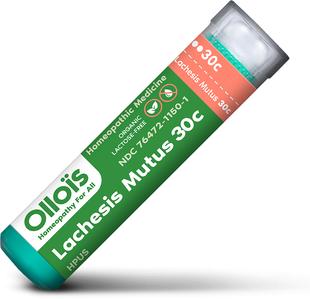 Lachesis mutus 30C Homeopatski pripravak za valunge u menopauzi 80 Peleti