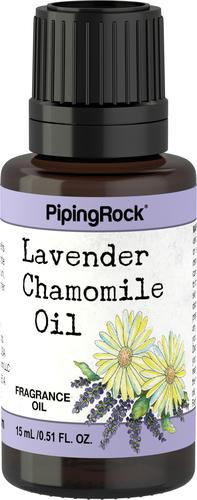 Óleo perfumado de lavanda e camomila 1/2 fl oz (15 mL) Frasco conta-gotas