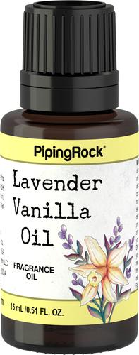 Huile parfumée lavande vanille (version bain et corps) 1/2 fl oz (15 mL) Compte-gouttes en verre