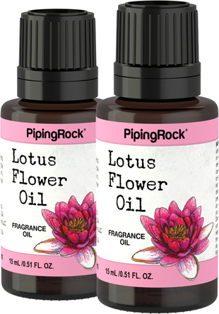Huile de parfum de Fleurs de Lotus 1/2 fl oz (15 mL) Compte-gouttes en verre