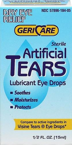 Sztuczne łzy, nawilżające krople do oczu 0.5 fl oz (15 mL) Butelka