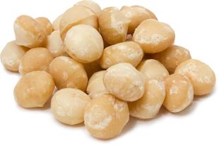 Nozes de macadâmia cruas sem sal 1 lb (454 g) Saco