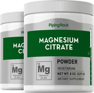Magnesium Citrate Powder 2 Bottles x 8 oz