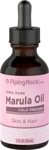 Huile de Marula 100% Pure (huile de graines de fruit de la passion) 2 fl oz (59 mL) Compte-gouttes en verre