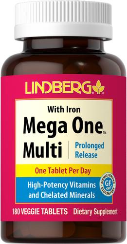 Mega One Multi z żelazem (przedłużone uwalnianie) 180 Tabletki wegetariańskie