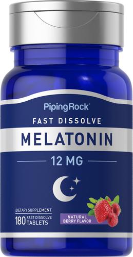 Melatoniini nopeasti liukeneva 180 Nopeasti liukenevat tabletit