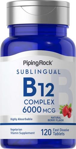 Complexo de metilcobalamina B12 (sublingual) 120 Comprimidos de dissolução rápida