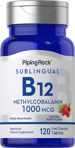 B-12 Methylcobalamin 1000mcg Sublingual 120 Fast Dissolve Tablets