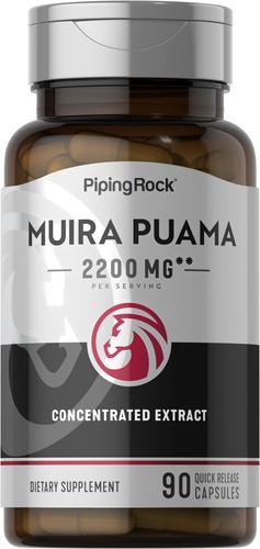 Muira Puama  90 Kapsułki o szybkim uwalnianiu