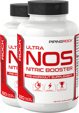 NOS (Nitric Boost) 3600 mg (per serving), 2 Bottles x 220 Coated Caplets