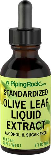 Extrato líquido de folhas de oliveira sem álcool 2 fl oz (59 mL) Frasco conta-gotas