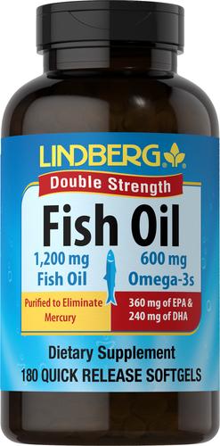 Olej rybi omega-3 (podwójna koncentracja) 180 Tabletki żelowe