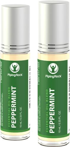 Mélange roll-on aux huiles essentielles de menthe poivrée 10 mL (0.33 fl oz) Flacon à bille