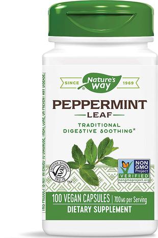Peppermint Leaf, 700 mg (per serving), 100 Capsules