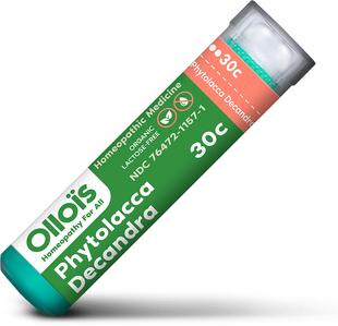 ファイトラカ 30c のどの痛み用ホメオ薬 80 丸薬