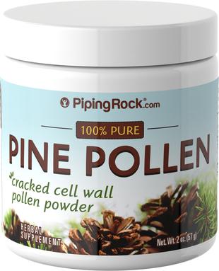 Poudre de parois cellulaires fissurées de pollen de pin à l'état sauvage 2 oz (57 g) Bouteille