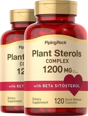 Kompleks steroli roślinnychz beta-sitosterolem 1200 mg (na porcję) 120 Kapsułki o szybkim uwalnianiu