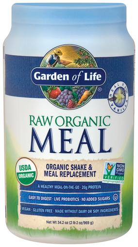 Raw Organic Meal Powder (Vanilla), 34.2 oz