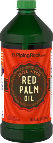 Huile de palme rouge (extra vierge) 16 fl oz (473 mL) Bouteille