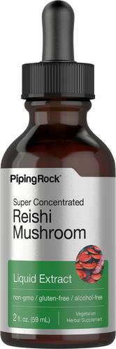 Extrait liquide de champignon reishi 2 fl oz (59 mL) Compte-gouttes en verre
