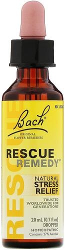 Remède de secours 20 ml (0.7 fl oz) Compte-gouttes en verre