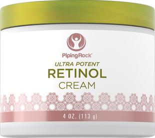 Creme de retinol (creme de vitamina A ultra potente) 4 oz (113 g) Boião