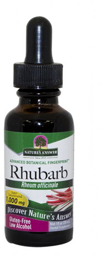 Extrait liquide de racine de rhubarbe 1 fl oz (30 mL) Compte-gouttes en verre