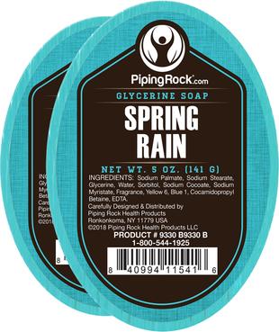 Spring Rain Glycerine Soap 2 Bars x 5 oz (141 g)