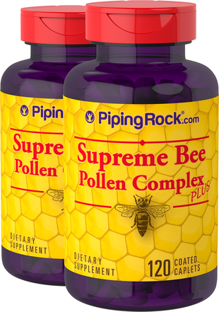 Supreme Bee Pollen Complex 2 Bottles x 120 Coated Caplets
