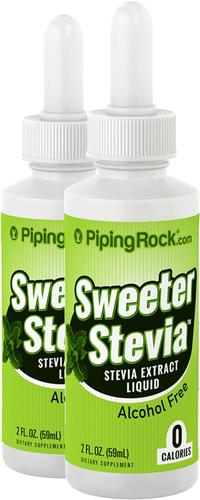 Sweeter Stevia Płyn 2 fl oz (59 mL) Butelka z zakraplaczem