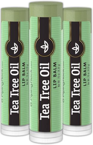 Bálsamo para os lábios de óleo de árvore do chá 0.15 oz (4 g) Tubos