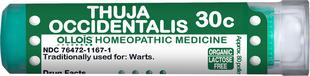 A tuja szemölcsök kezelése, Thuja homeopátiás kenőcs