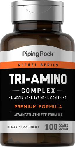 Tri Amino L-Arginin L-Ornisin L-Lizin 100 Örtülü Kapsulşəkilli Tabletlər