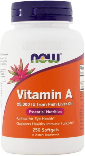 Vitamina A (Óleo de peixe) 250 Cápsulas gelatinosas