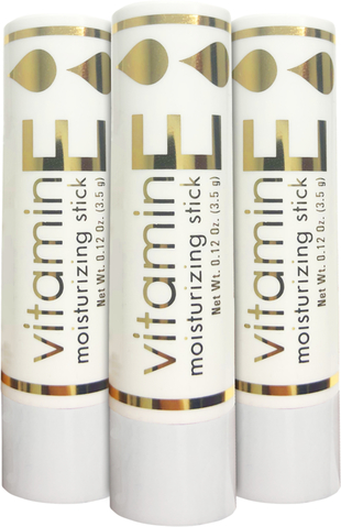 維生素E保濕唇膏 3件裝 0.1 oz (3.5 g) 管