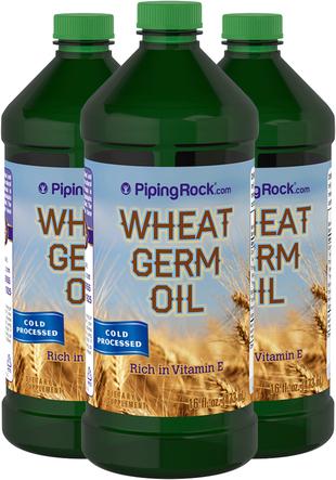Óleo de gérmen de trigo (pressão a frio) 16 fl oz (473 mL) Frascos
