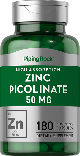 Zinc Picolinate 50mg 180 Capsules