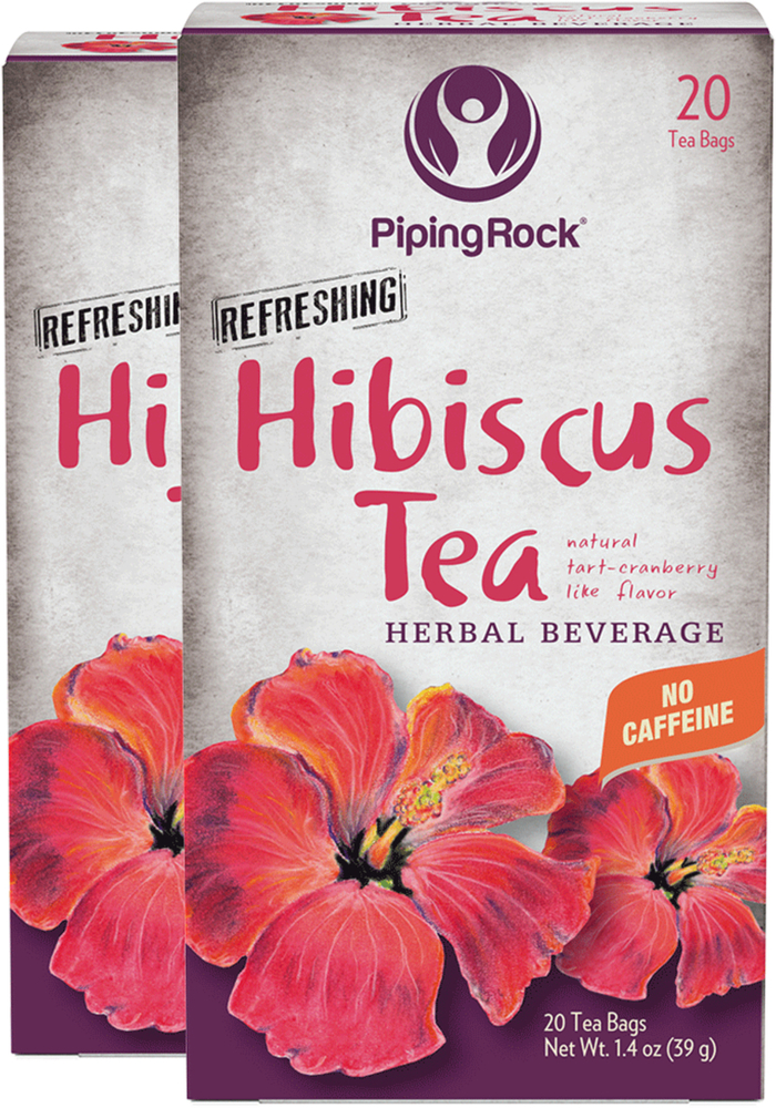 Hibiscus Tea 20 Tea Bags 2 Boxes Hibiscus Tea Uses Piping Rock