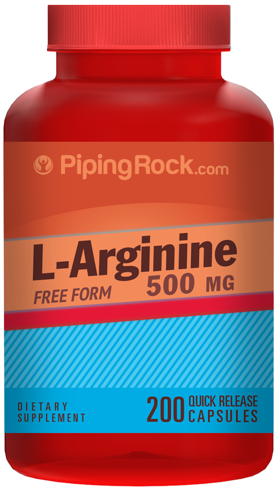 L-Arginine 500 mg Pharma Grade 200 Capsules | Benefits ...