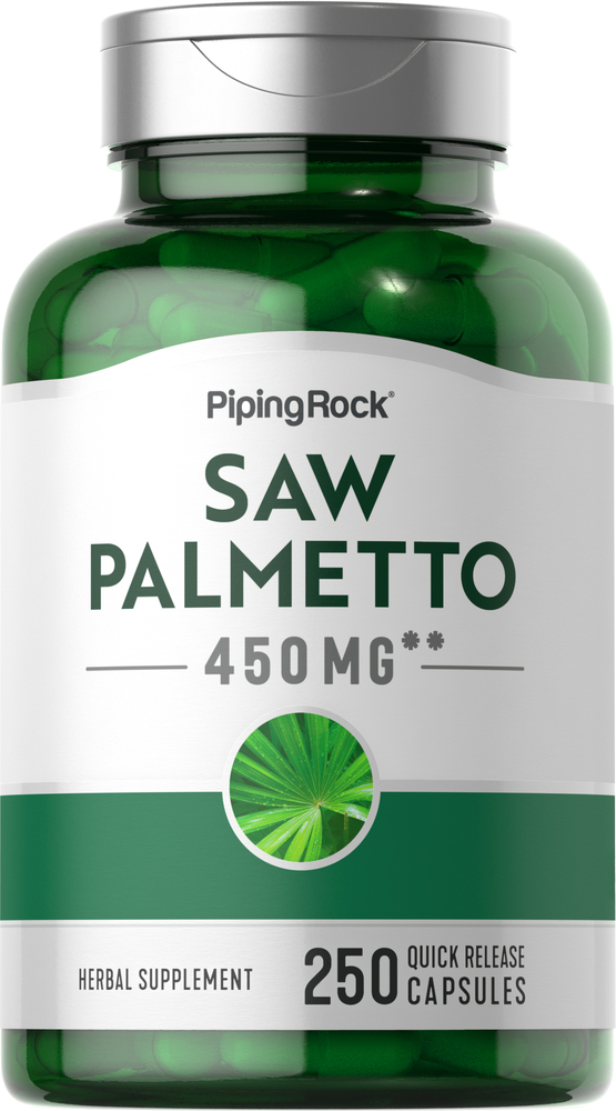 Saw Palmetto 450 mg, 250 Capsules   PipingRock Health Products