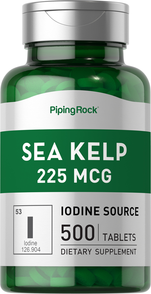 Buy Sea Kelp Iodine 225 mcg 500 Tablets | Sea Kelp Supplement | Piping Rock  Health Products