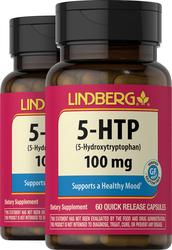 5-HTP 100 mg, 60 Capsules x 2 Bottles